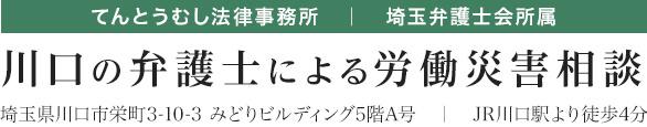 てんとうむし法律事務所 埼玉弁護士会所属 川口の弁護士による労働災害相談